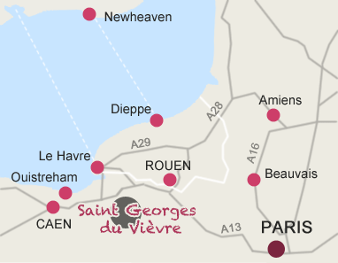 Carte de situation de Saint Georges du vièvre