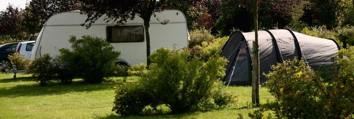 Exemple d'emplacement au Camping du Vièvre