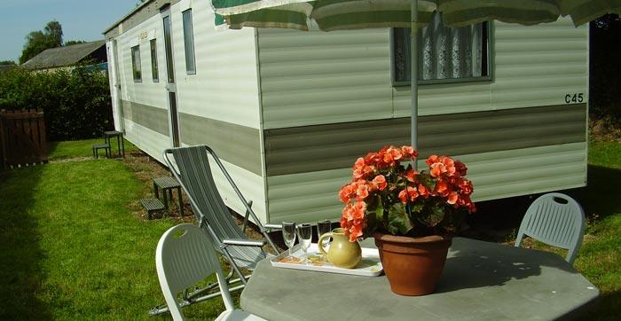 Le mobil-home du camping du Vièvre